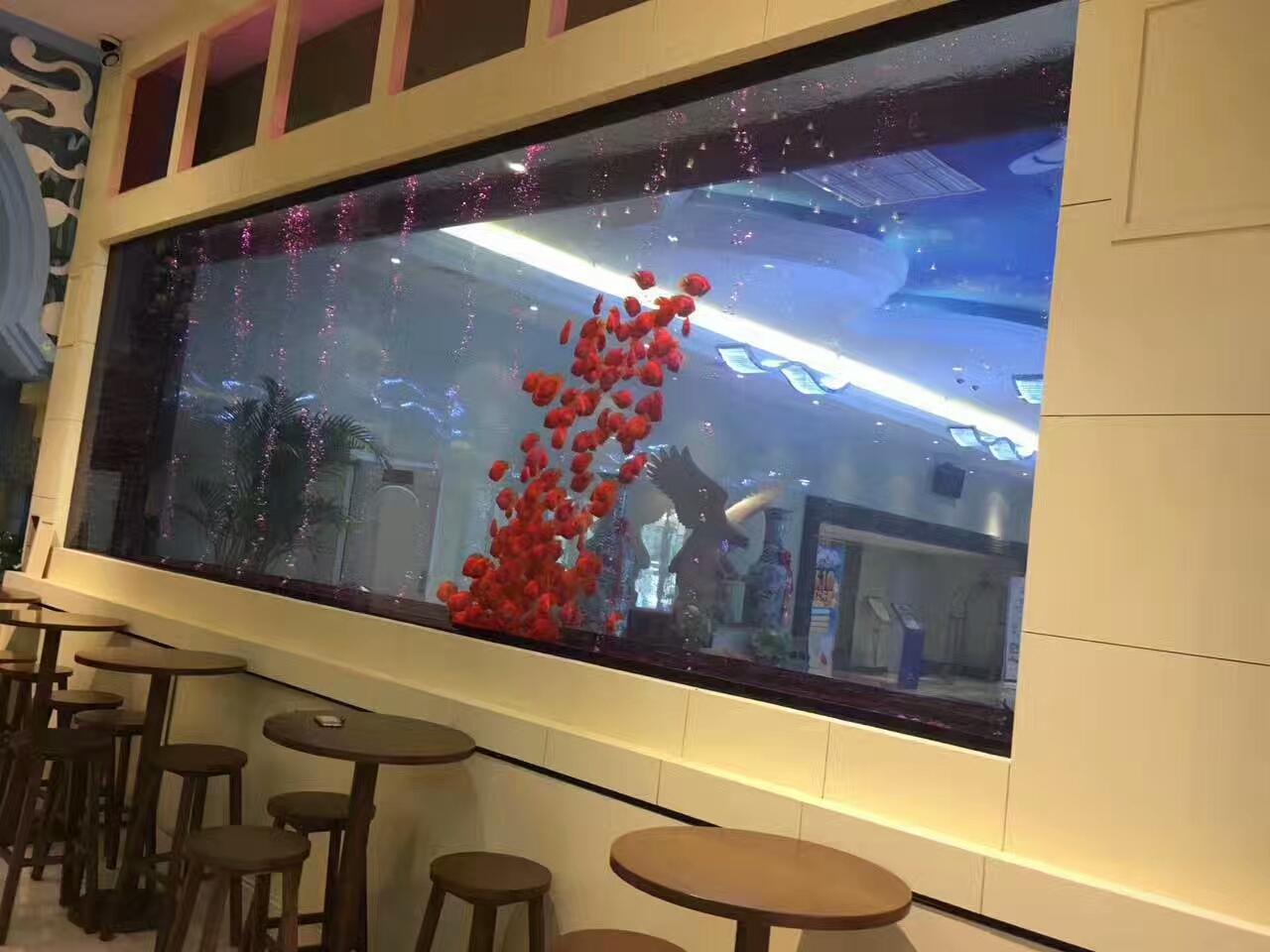 酒店餐厅区观赏鱼缸