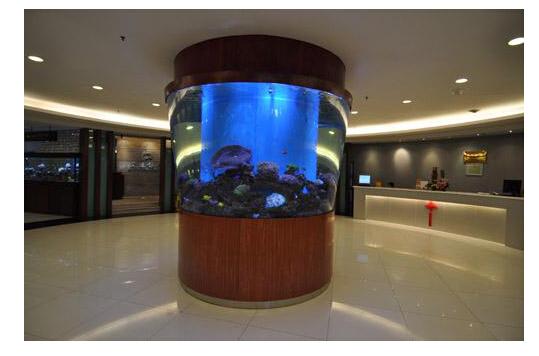酒店会所鱼缸定做