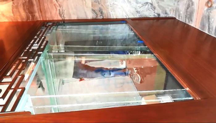 超白玻璃鱼缸制作过程--过胶