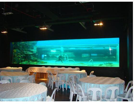 大型餐厅鱼缸清洗